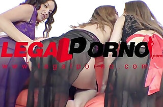 Roxy Dee, Ginger Fox Jenna Clarke mini orgy with two guys