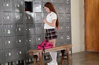 InnocentHigh Slutty Cheerleader Squirts All Over Coach