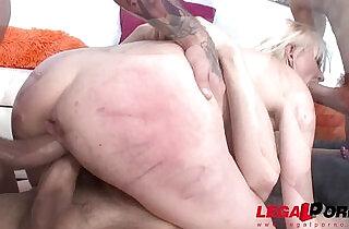 Tiny Blonde slut Bree Haze double anal fucked and sprayed