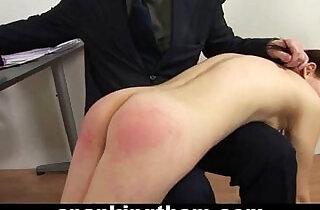 Spanked by rude teacher