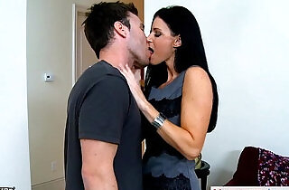 Stockinged India Summer gets fucked and facialized