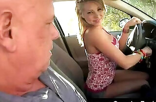 Teen dares grandpa to taste cunt fluid