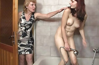 His mom licks her cunt then daddy bangs her