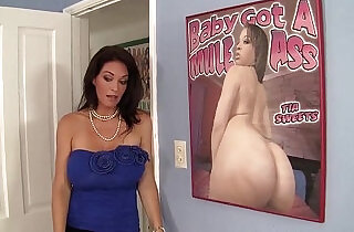Busty stepmom rides her stepsons big dick