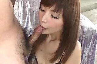 Riona Suzune amazes with cock sucking skills