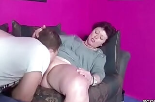 German Step son Caught Mom Masturbate and Seduce to Fuck