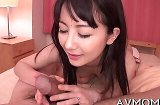 Pretty mom loves her mouth on dick