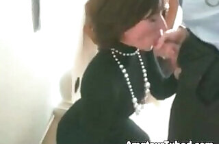 Office with slut blows her boss