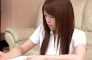 Nazuna Otoi rubbing her wet cunt with a sex toy