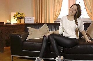 Young Russian closeup casting video