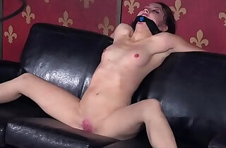 Spreadeagle bdsm sub bound and toyed
