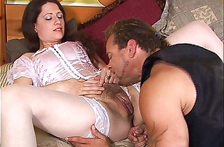 Horny guy plows and licks her pussy