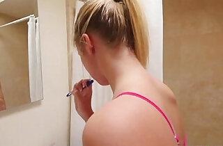 Banging Stepsis In A Bathroom