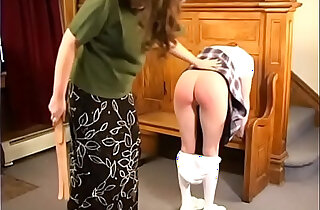 Spanked in the foyer