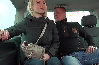 Cheating busty horny cheating wife fucks stranger in traffic Mea Melone record it