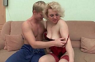 Mom has got this burning desire for fresh cum