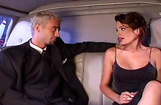 Nina Roberts fucks in limo