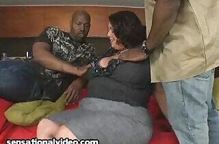 Big Tit Latina sucks and Fucks Black Cocks