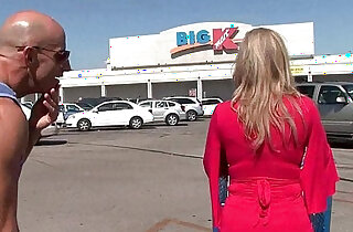 Busty amateur milf Savannah Jane gets picked up from the mall for a fuck fest