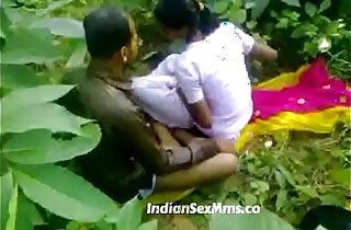Young couple caught fucking whore in India forest new