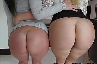 Big butt sluts share one cock