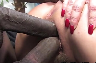 Janet Mason makes her son watch as she fucks a big black cock