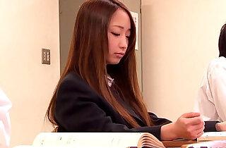 Japanese teen Anju Sana is old guys slave