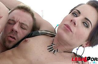 Sexy asian slut Sasha Zima double anal first DAP