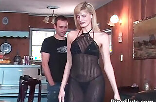 Hot mature blonde lies down