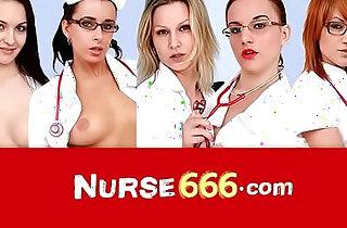 Vagina speculum self exam with her sexy nurse Elis Diamond