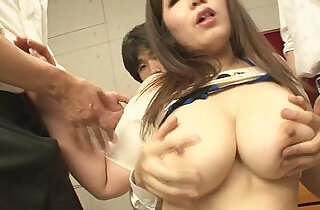 Fat and busty pervert gagging cocks and gang banged